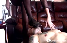 Hot stepmom in pantyhose rides a pulsating schlong