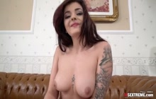 Beauty rides a cock like a cowgirl