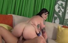 Fat girl riding a cock