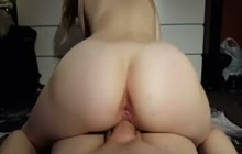 Hot ass amateur babe riding reverse cowgirl style